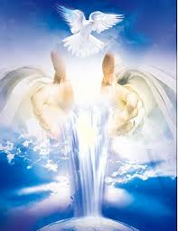 Gods Hands offer Holy Spirit