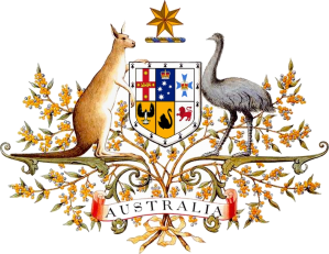 Australian_Coat_of_Arms - fr Wikipedia on Canb. Parl. Hse