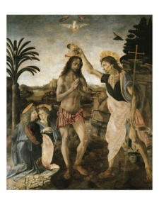 baptism-of-christ - Leon da Vinci