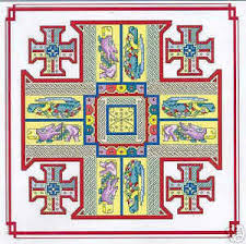 Jerusalem Cross #4 - Celtic tapestry