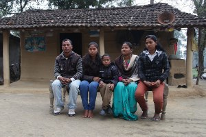 Sarita's family at home