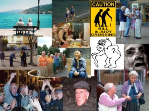 Collage of ageing photos