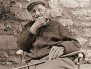 Elderly man - sepia