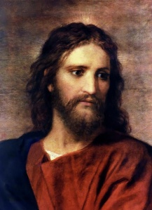 Jesus - detail of Heinrich Hoffman - J w Rich Young Man
