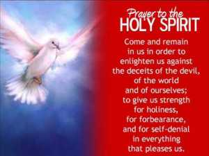 Holy Spirit prayer