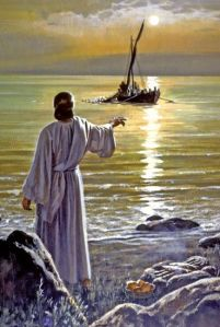 Jesus by Sea of Galilee - Jn 21.6