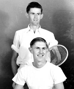 Chas ODonoghue & Tim Boxall - St Ms Tennis players